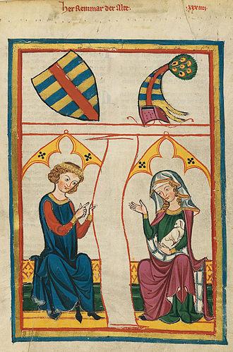 Reinmar von Hagenau - Reinmar der Alte, from the Codex Manesse