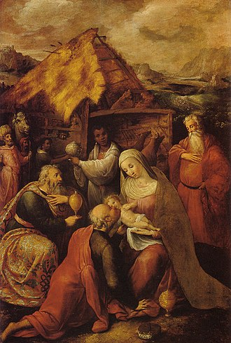 Gillis Coignet - Adoration of the Kings, 1584