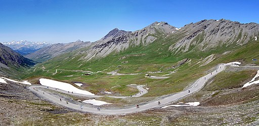 Col Agnel, cyclists