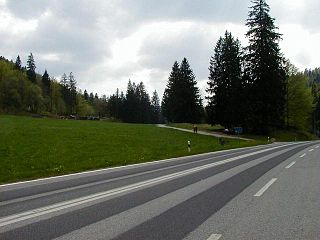 Col de Pierre Pertuis mountain pass in the Jura Mountains in the canton of Bern in Switzerland