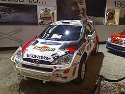 Colin McRae's Martini sponsored Ford Focus WRC, winner of the 1999 Safari Rally 2013-12-07 09-13.jpg