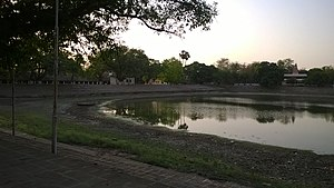 Arrah - Collectorate Pond in Ara on a May evening