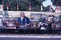 Collectie NMvWereldculturen, TM-20019413, Dia- Schildering ter gelegenheid van het 40-jarig jubileum van de viering van Onafhankelijkheidsdag, Henk van Rinsum, 08-1985.jpg