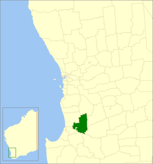Shire of Collie - Location in Western Australia