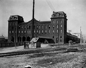 Union Station (Columbus, Ohio) - The second Columbus Union Station sometime in the late 1870s.