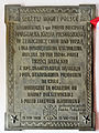 Commemorative plaque in Basilica of the Nativity of St Mary and St Nicholas in Bielsk Podlaski - 02.jpg