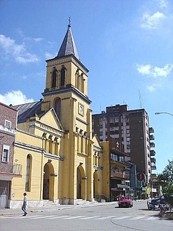 Concepción (Tucumán): The City's Cathedral across from Mitre Square