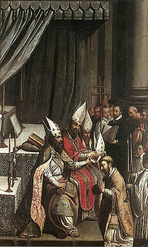 Consecration - The Consecration of Deodat (1620, Claude Bassot).