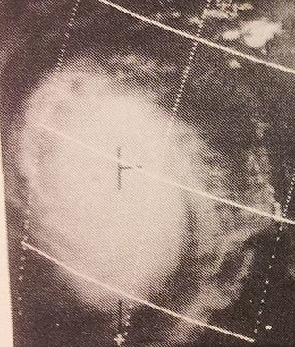 1969 Pacific typhoon season - Image: Cora Aug 1919690438z ESSA9