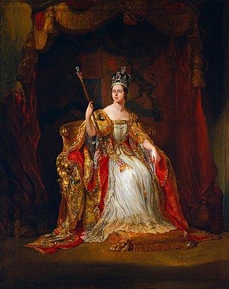 Coronation of Queen Victoria - Sir George Hayter's coronation portrait for the Queen