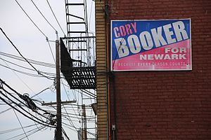Cory Booker - Cory Booker for Newark campaign sign