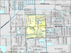 U.S. Census Bureau map showing CDP boundaries