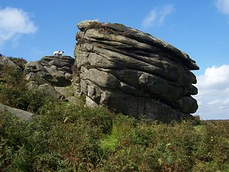 Stanage Edge - Image: Cowper Stone Stanage Edge