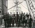 Crew standing on the deck of the three-masted sailing vessel PYTHOMENE, Washington, ca 1904 (HESTER 70).jpeg