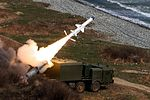 Crews of the coastal missile system Bal of the Pacific Fleet perform training firings 03.jpg