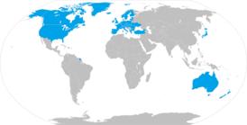 Карта распространения