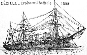 Jean-Baptiste Cécille - The 1888 French cruiser Amiral Cécille.