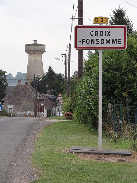 Croix-Fonsomme (Aisne) city limit sign