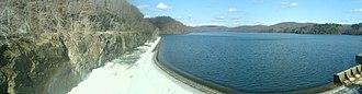 New Croton Dam - Panorama view of New Croton Dam, looking northwest