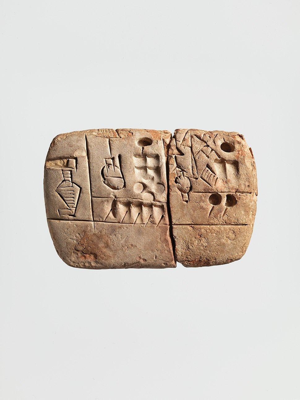 Cuneiform tablet- administrative account with entries concerning malt and barley groats MET DP293245