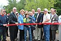Cutting the ribbon for the Iron Ore Heritage Trail (9722366663).jpg