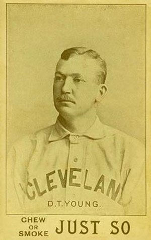 Cy Young - An 1893 baseball card of Young