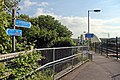 Cycle route NCN5 at Hawarden Bridge railway station (geograph 4032480).jpg