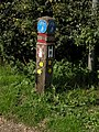 Cycleway 51 marker post - geograph.org.uk - 948905.jpg