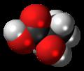 D-Lactic acid molecule spacefill.png