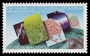 International Union of Geodesy and Geophysics - German stamp about the IUGG General Assembly in 1983, Hamburg