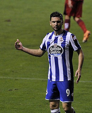 Hélder Postiga - Postiga playing for Deportivo in 2014