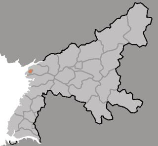Chongnam District in South Pyŏngan, North Korea