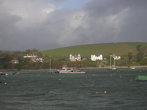 Flushing, Cornwall - Houses in Flushing, from Fish Strand Quay, Falmouth