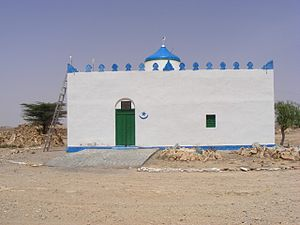 Somali architecture - Sheikh Darod's tomb in the ancient town of Haylaan.
