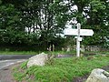 Dartmoor National Park , Swallerton Gate Signpost - geograph.org.uk - 1416166.jpg