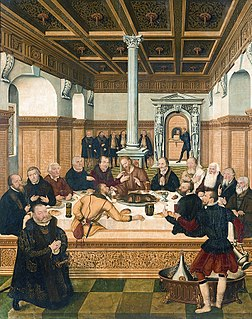 <i>Last Supper</i> (Cranach) painting by Lucas Cranach the Younger