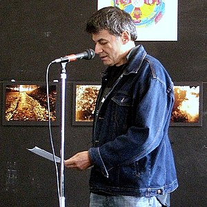 David Eggleton - New Zealand poet David Eggleton, pictured reading some of his verse in Dunedin, 2011