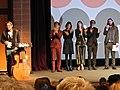 David Courier, Steven Yeun, Astrid Bergès-Frisbey, Brit Marling, Michael Pitt, and Mike Cahill (12025836505).jpg