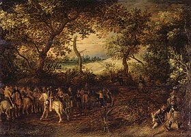 David Vinckboons - An Officer Preparing His Troops for an Ambush - WGA25110.jpg