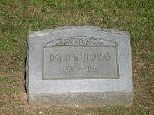 Wikipedia: David William Thomas at Wikipedia: 220px-David_William_Thomas_grave%2C_Minden%2C_LA_IMG_0576