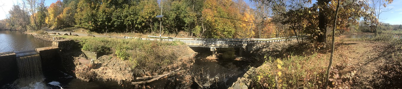 A panorama of Davidson Mill Pond in the western portion of the township