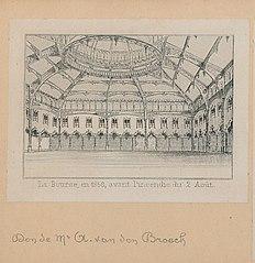De Beurs van Antwerpen in 1858, vóór de brand van 2 augustus