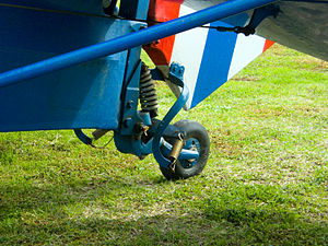 Conventional landing gear - Tailwheel detail on a Tiger Moth biplane
