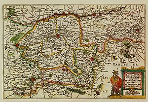 "Romance Flanders - Map of Romance Flanders in the ""De Vyerighe Colom"" Atlas (1696)"