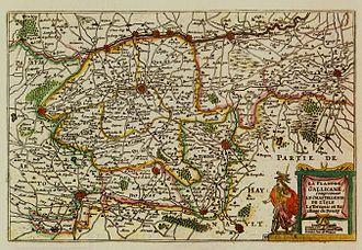"Romance Flanders - Map of Romance Flanders in the ""De Vyerighe Colom"" Atlas (1696)"