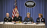 Defense.gov News Photo 120330-D-NI589-0982 - Army Director Casualty and Mortuary Affairs Col. Richard Teolis Jr. left Dover Medical Examiner Navy Capt. Craig Mallak Acting Under Secretary.jpg