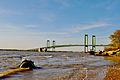 Delaware Memorial Bridge shooting from the Pennsville, NJ side.jpg