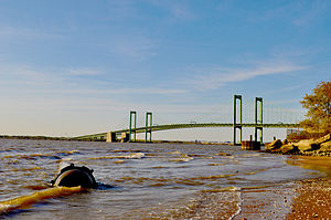 Port of Salem - The Delaware Memorial Bridge and the Interstate Highway System are upstream from the port