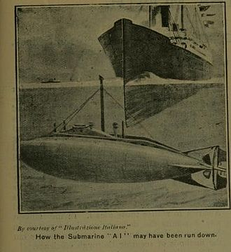 HMS A1 - 1904 illustration of the loss.