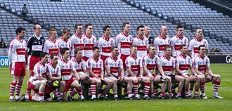 Derry GAA - The Derry team ahead of the 2009 National League Final